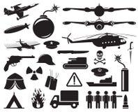 Icônes militaires Photographie stock
