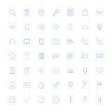 Icônes minces Images libres de droits