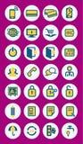 Icônes mobiles de vecteur d'infographics Image libre de droits
