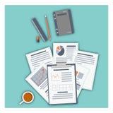 Icônes modernes d'illustration de vecteur de conception plate réglées Fond pour une carte d'invitation ou une félicitation Image stock