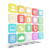 Icônes modernes de couleur Images libres de droits