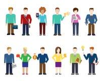 Icônes modernes de personnes de vecteur plat, travailleur professionnel, mode de vie illustration stock