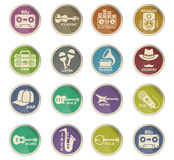 Icônes musicales de Web de genre Photographie stock libre de droits