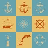 Icônes nautiques Image stock