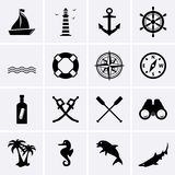 Icônes nautiques illustration de vecteur