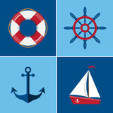 Icônes nautiques réglées Image libre de droits