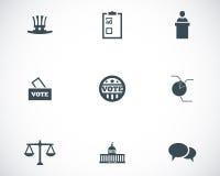 Icônes noires d'electiion de vecteur réglées Image libre de droits