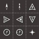 Icônes noires de boussole de vecteur réglées Photographie stock libre de droits