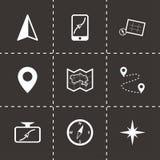 Icônes noires de navigation de vecteur réglées Photographie stock libre de droits