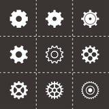Icônes noires de vitesse de vecteur réglées Photo stock
