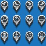 Icônes noires et blanches d'ordinateur d'icônes isométrique Photographie stock libre de droits
