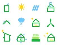 Icônes passives de maison illustration libre de droits