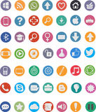 49 icônes plates Photos libres de droits