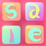 Icônes plates Image libre de droits