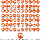 Icônes plates Photographie stock