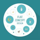 Icônes plates Arabes, lampe islamique, broc et d'autres éléments de vecteur L'ensemble de Ramadan Flat Icons Symbols Also inclut Photo libre de droits