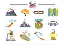 Icônes plates colorées de vecteur réglées Conception de qualité illustration stock