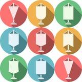 Icônes plates colorées pour le fanion Images stock