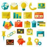 Icônes plates d'affaires illustration libre de droits