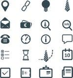 Icônes plates d'affaires réglées Image libre de droits