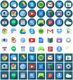 Icônes plates d'Android de place de cercle illustration de vecteur