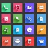 Icônes plates d'application réglées Image stock