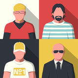 Icônes plates d'avatar illustration stock