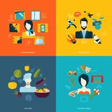 Icônes plates d'avatars Image libre de droits