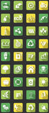 Icônes plates d'eco Image libre de droits