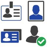 Icônes plates d'insigne d'utilisateur Photo stock