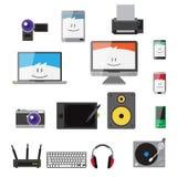 Icônes plates d'instruments de graphique couleur de vecteur Images stock