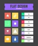 Icônes plates d'ui Image libre de droits