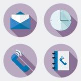 Icônes plates de bureau de conception avec la longue ombre 1 Illustration de Vecteur