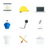Icônes plates de carrière Image stock