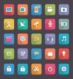 Icônes plates de Communcation et de media illustration libre de droits