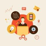 Icônes plates de concept d'affaires réglées illustration stock