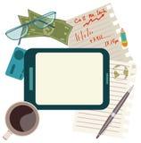 Icônes plates de concept de construction de matin d'affaires ou de pause de midi Photos libres de droits