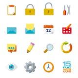 Icônes plates de conception pour le Web et les applications mobiles illustration libre de droits