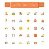 Icônes plates de construction de vecteur Photo libre de droits