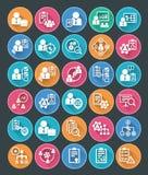 Icônes plates de gestion des projets Image libre de droits