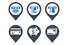 Icônes plates de Glyph d'indicateur d'atmosphère de banque Image stock