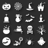 Icônes plates de Halloween Ensemble de vecteur Photo libre de droits