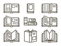 Icônes plates de livres Photos libres de droits
