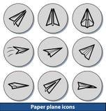 Icônes plates de papier légères Photo stock