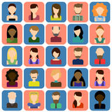 Icônes plates de personnes réglées Illustration Libre de Droits