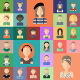 Icônes plates de personnes réglées Illustration de Vecteur