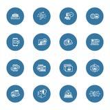 Icônes plates de sécurité et de protection de conception réglées Photographie stock libre de droits