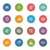 Icônes plates de sécurité et de protection de conception réglées Image stock
