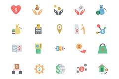 Icônes plates 6 de vecteur de paiement de carte Photographie stock libre de droits