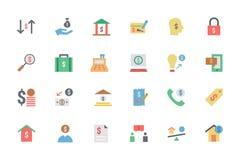 Icônes plates 5 de vecteur de paiement de carte Photos stock
